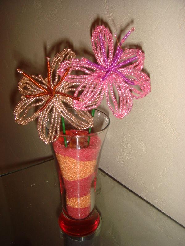 Bouquet de lys - Pluie de perles