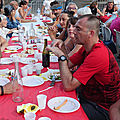 Les invités ont dévoilé bien des talents au repas du village