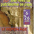 Récital de musique médiévale à la chapelle saint- jean ce vendredi 19 juin à 18 h 00.