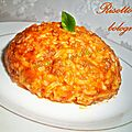 Risotto  la bolognaise