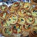 Tartellettes courgettes