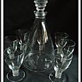 Articles vendus : cristal, verrerie