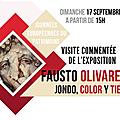 Journées européennes du patrimoine - visite commentée de l'exposition de fausto olivares