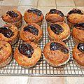 Muffins aux bananes et aux dattes!