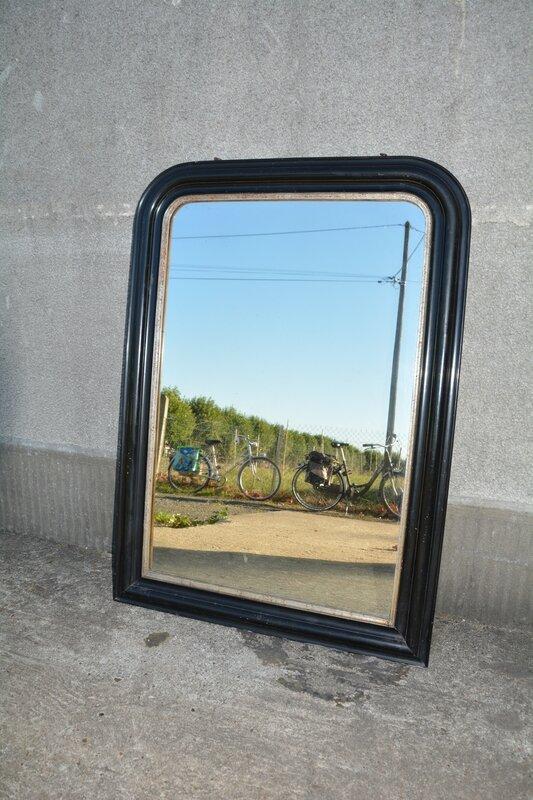 Miroir de chemin e trumeau noir la petite brocanteuse - La petite chemine ...