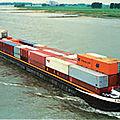 Le transport fluvial sur l'axe rhone-saone