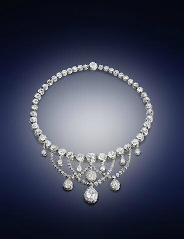 A 19th century diamond necklace
