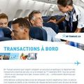 Transaction à bord d'air transat