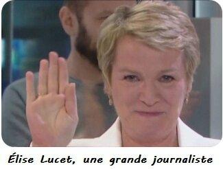 Elise Lucet lors de ses adieux au jt le 29 avril 2016 sur france 2
