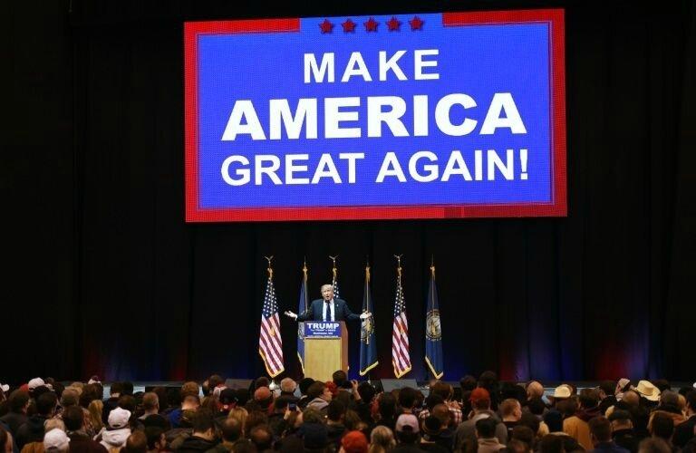 Donald Trump campaigning 2