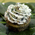St patrick's day cupcake- épinards-fromage frais, ail, herbes, pesto