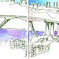 Le pont autoroutier vu de la chapelle