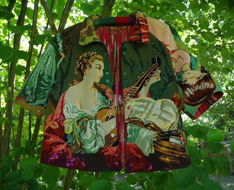 veste en canevas recyclé B'no blog toutencanevas