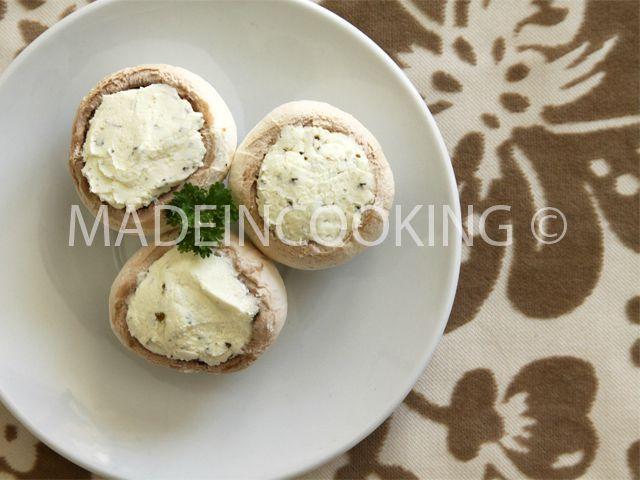 chaud froid de champignons au fromage blanc