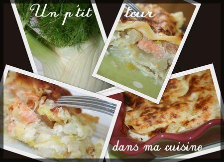 Lasagnes saumon fenouil montage