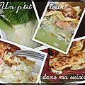 P'tites lasagnes au saumon, fenouil et poireaux