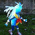 Déchets plastiques Valorisation PET - Sculpture Personnage Bouteille en plastique livre 1 - Objet Art création recyclage récupération