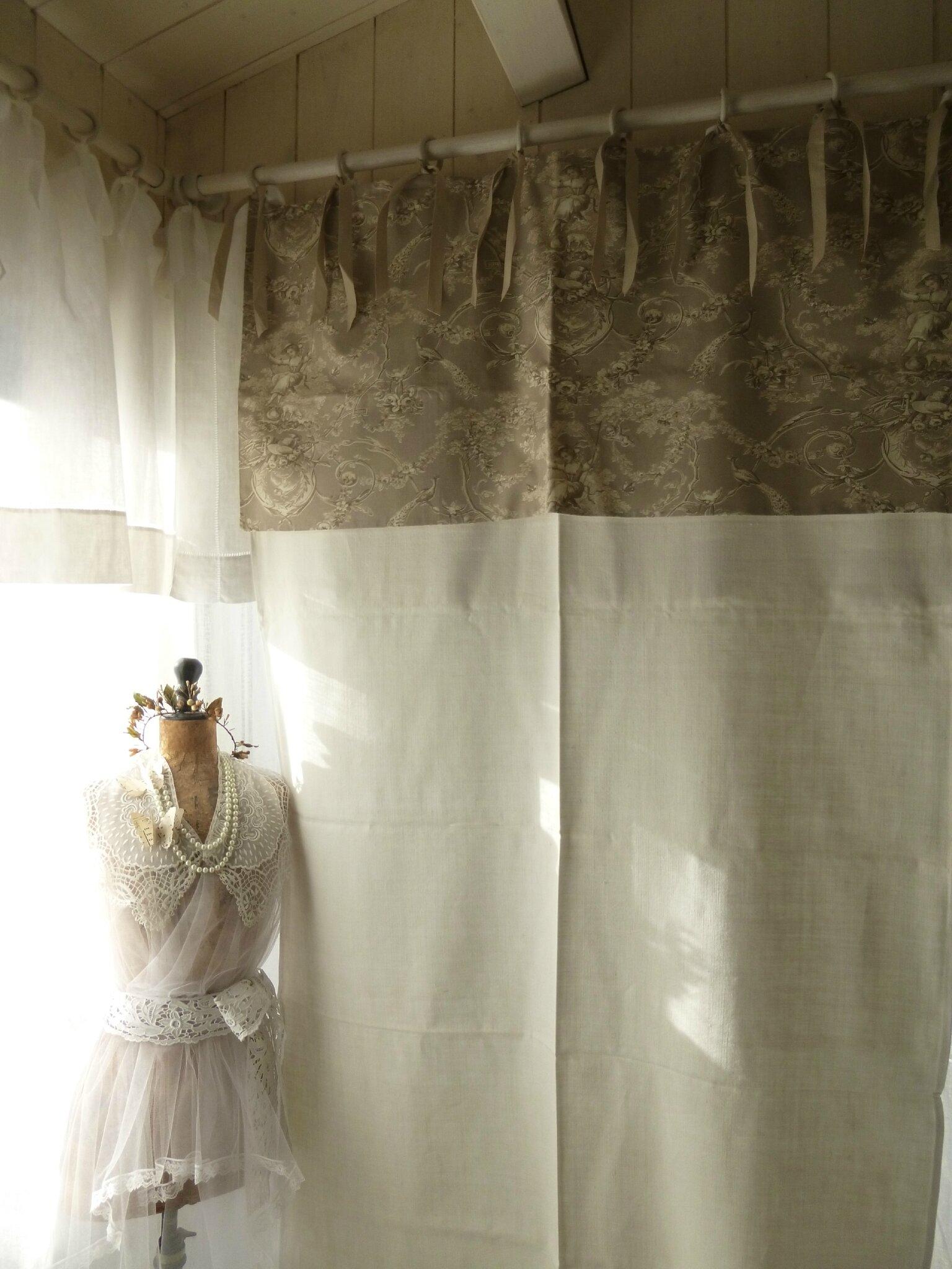 Faire des rideaux avec draps anciens 5 double rideaux - Faire des rideaux avec draps anciens ...