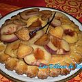 Tarte aux pêches blanches & nectarines jaunes