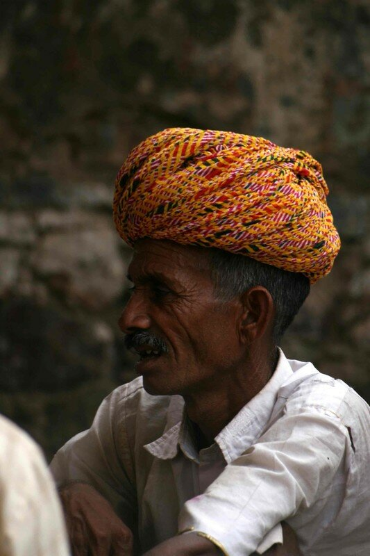 A colourful turban