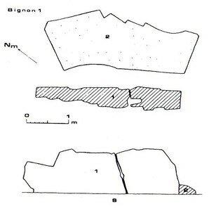 Plan du Dolmen 1 de Bignon