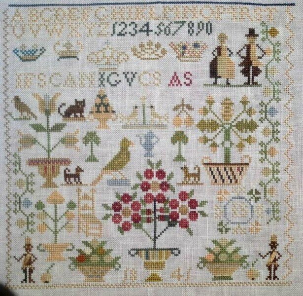 Little Dutch sampler, brodé par Sigrid