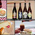 Bière palm et fromage de hollande - hamburger au gouda vieux et rodenbach