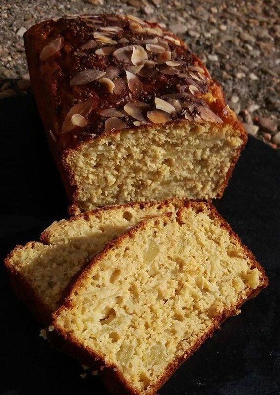 Cake pomme-pois chiche-amande bis