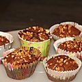 Muffin fondant au chocolat avec un coeur gourmand