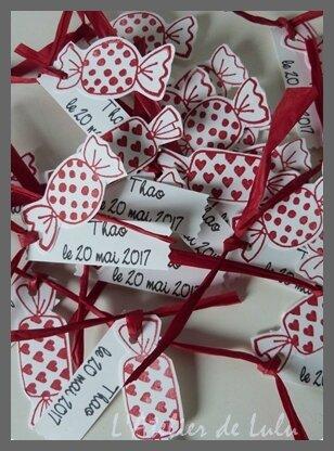 etiquettes dragees bonbons