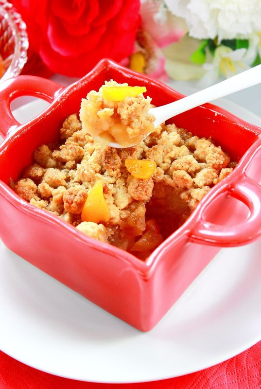 CRUMBLE POMMES & PECHES1