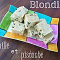 Blondies vanille et pistache
