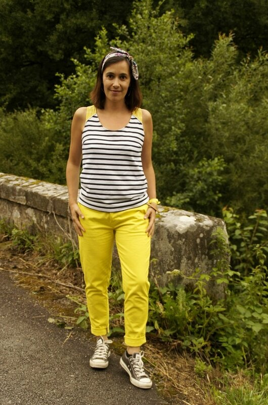 port trousers jaune 01