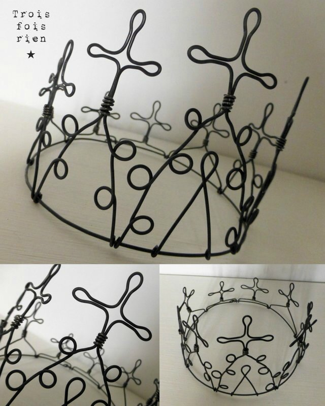 couronne fil de fer, wire crown 11B