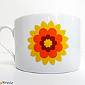 Vaisselle vintage ... grande tasse en porcelaine * flowers