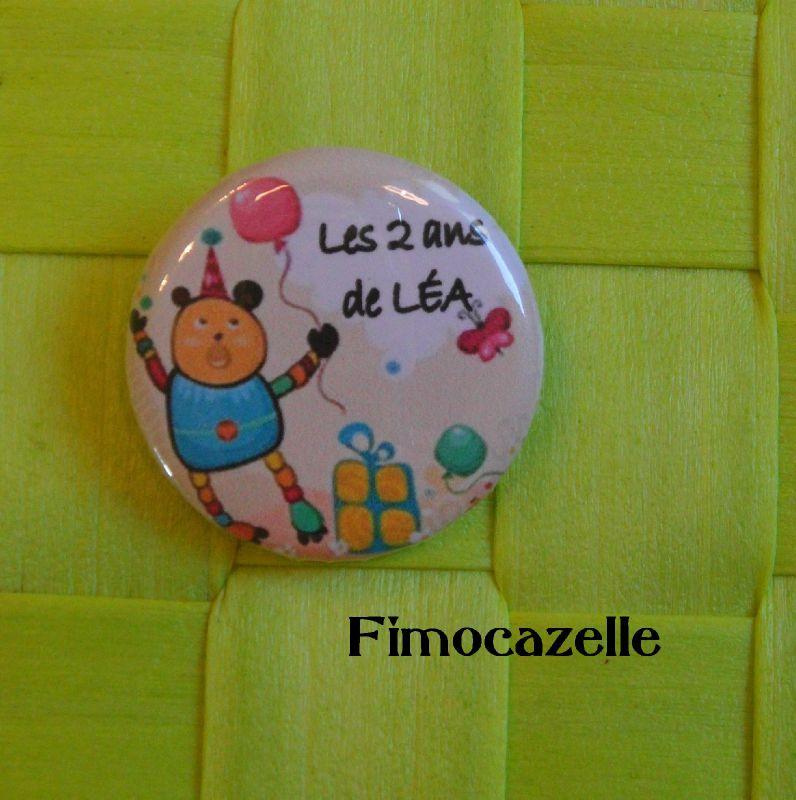 badge anniversaire Léa