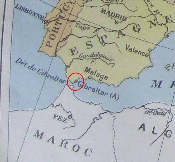 GIBRALTAR   Carte   Album Historique et Géographique de Timbres Poste