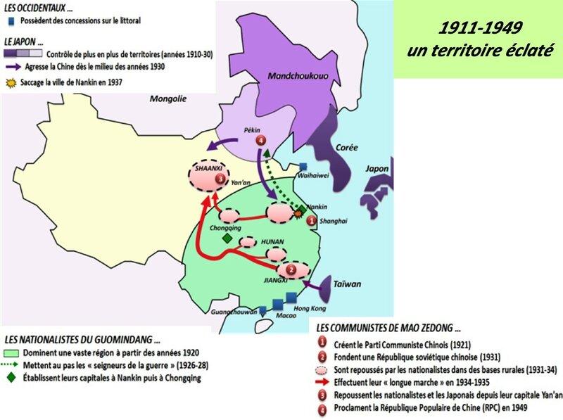Chine carte 1911-1949