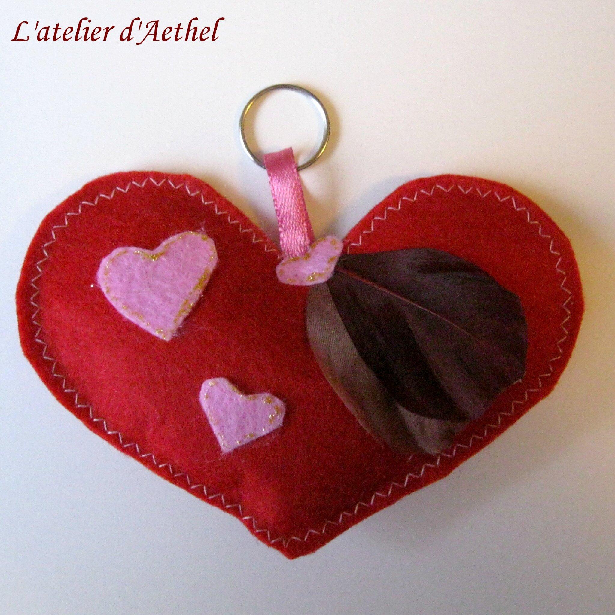 Coffret saint valentin rouge : porte-clef, bourse avec petits bons et carte personnalisée