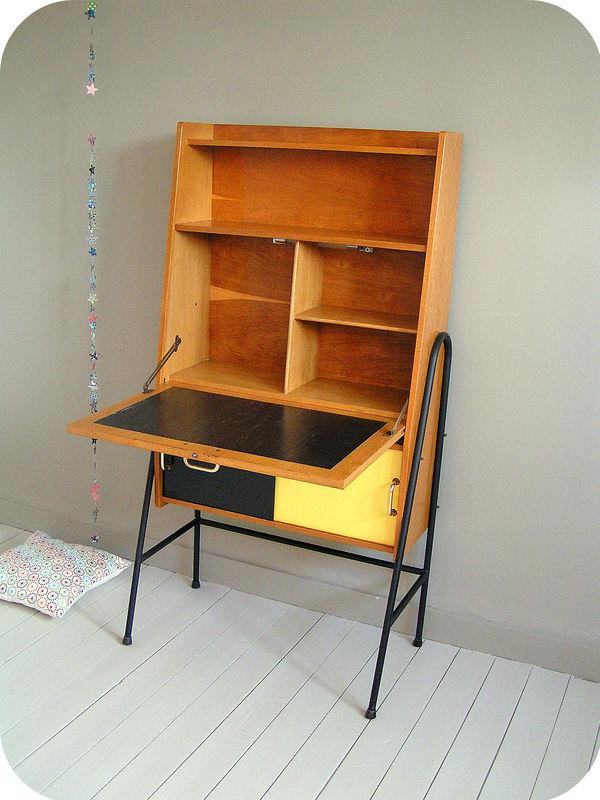 secr taire ann es 60 style guariche l 39 atelier du petit parc. Black Bedroom Furniture Sets. Home Design Ideas