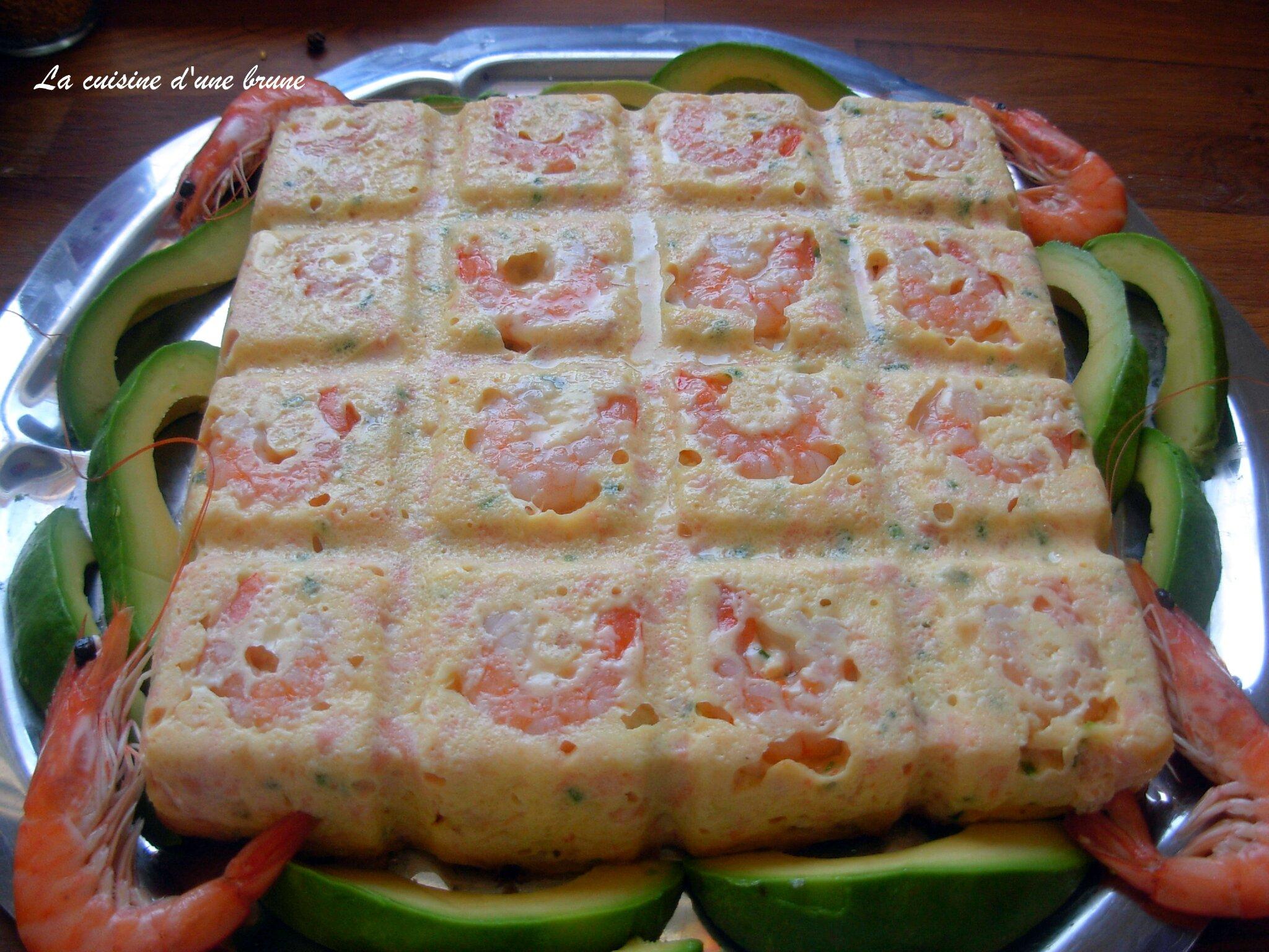 Terrine de saumon aux crevettes roses la cuisine d 39 une brune for Entree bonne et facile