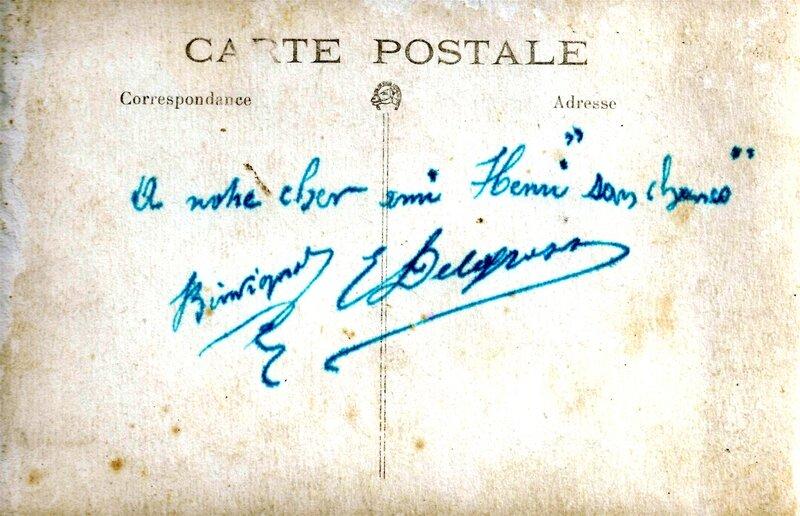 1918 - Joseph est ebeniste de marine -verso de la carte-