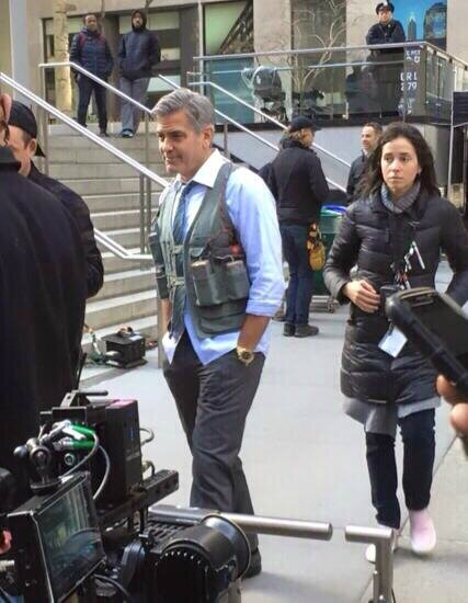 George Clooney on Money Monster Set April 10th & 11th  2015 103439431