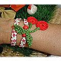 Atelier bijoux au crochet : bracelet liberty et cerises