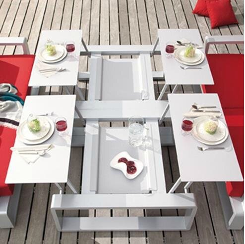 Table modulable kama pour une d coration de jardin for Table de jardin modulable
