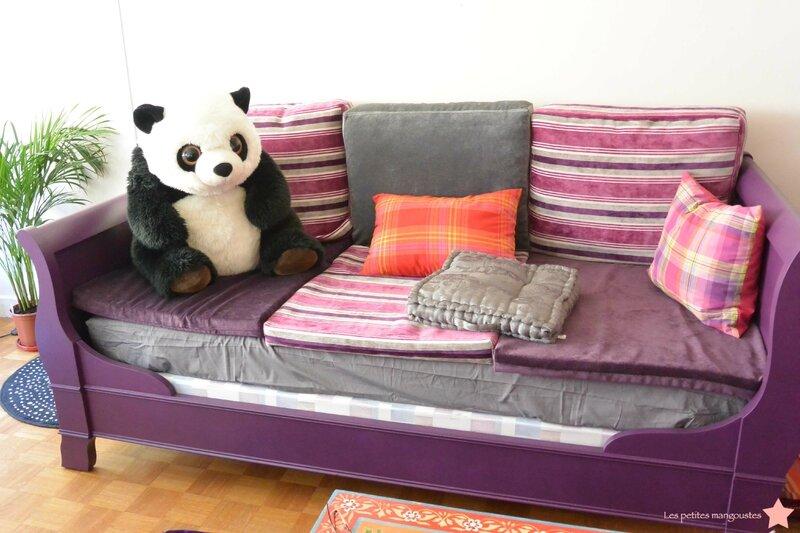 Un nouveau canap les petites mangoustes - Faire un canape avec un lit ...