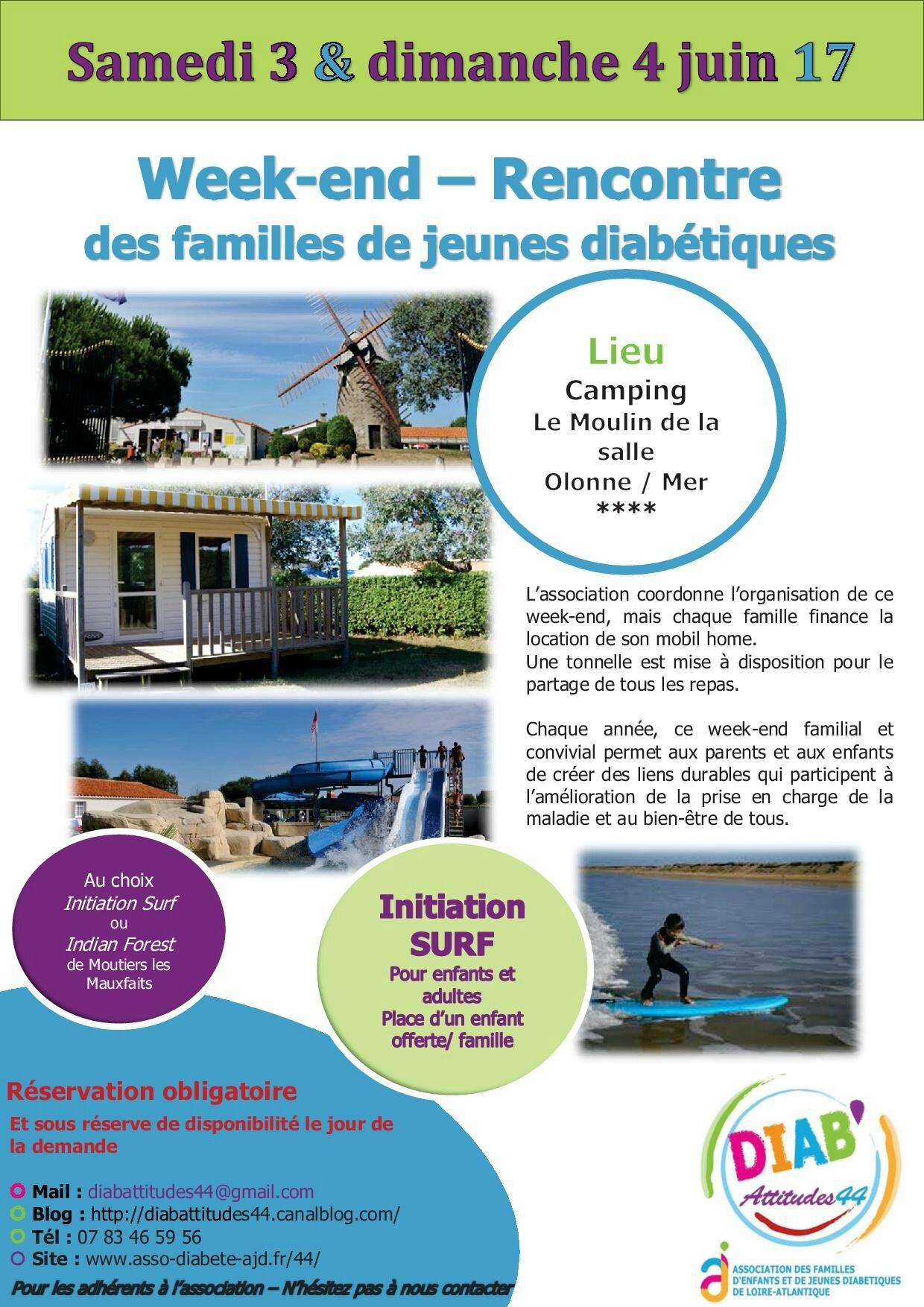 WEEK END DES FAMILLES 2017 : IL RESTE ENCORE QUELQUES PLACES
