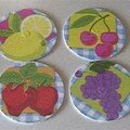 Fruits coasters