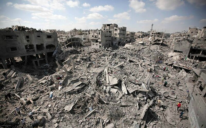 Gaza Shajiya quartier davasté après