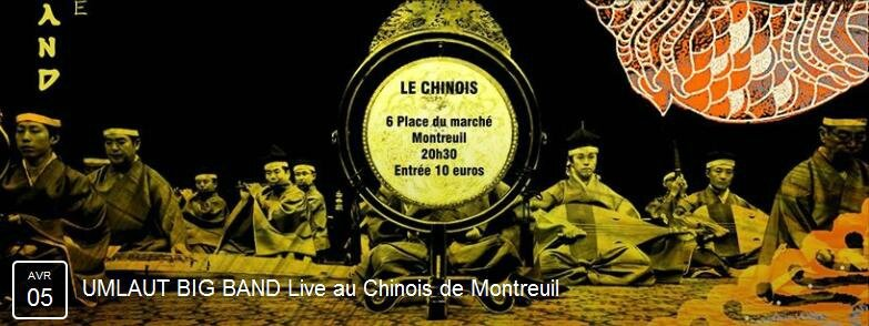 Umlaut Big Band - Chinois 5 avril 15